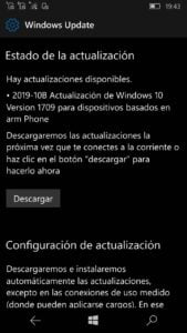 Windows 10 Mobile 15254.590