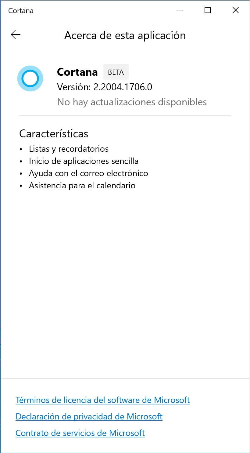 Lista de funciones de la nueva Cortana de Windows 10