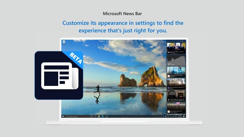 Microsoft News Bar Beta 2