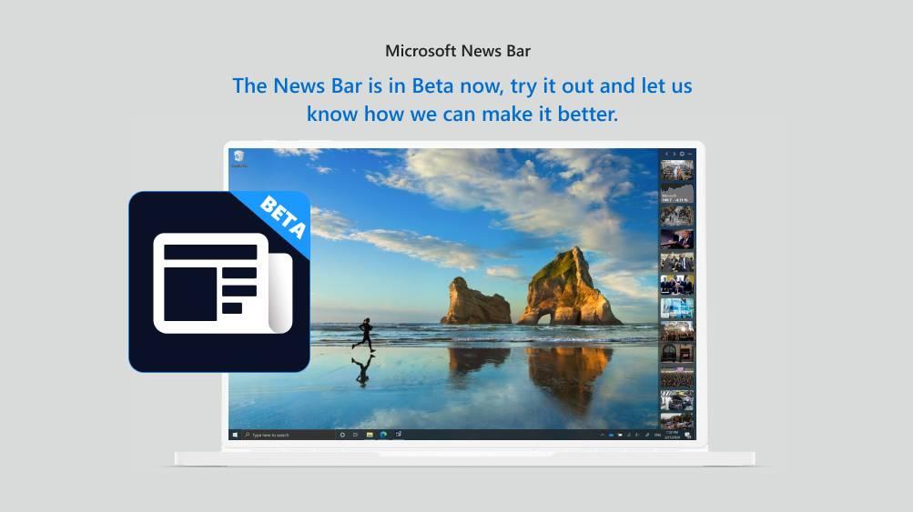 Microsoft News Bar Beta 4