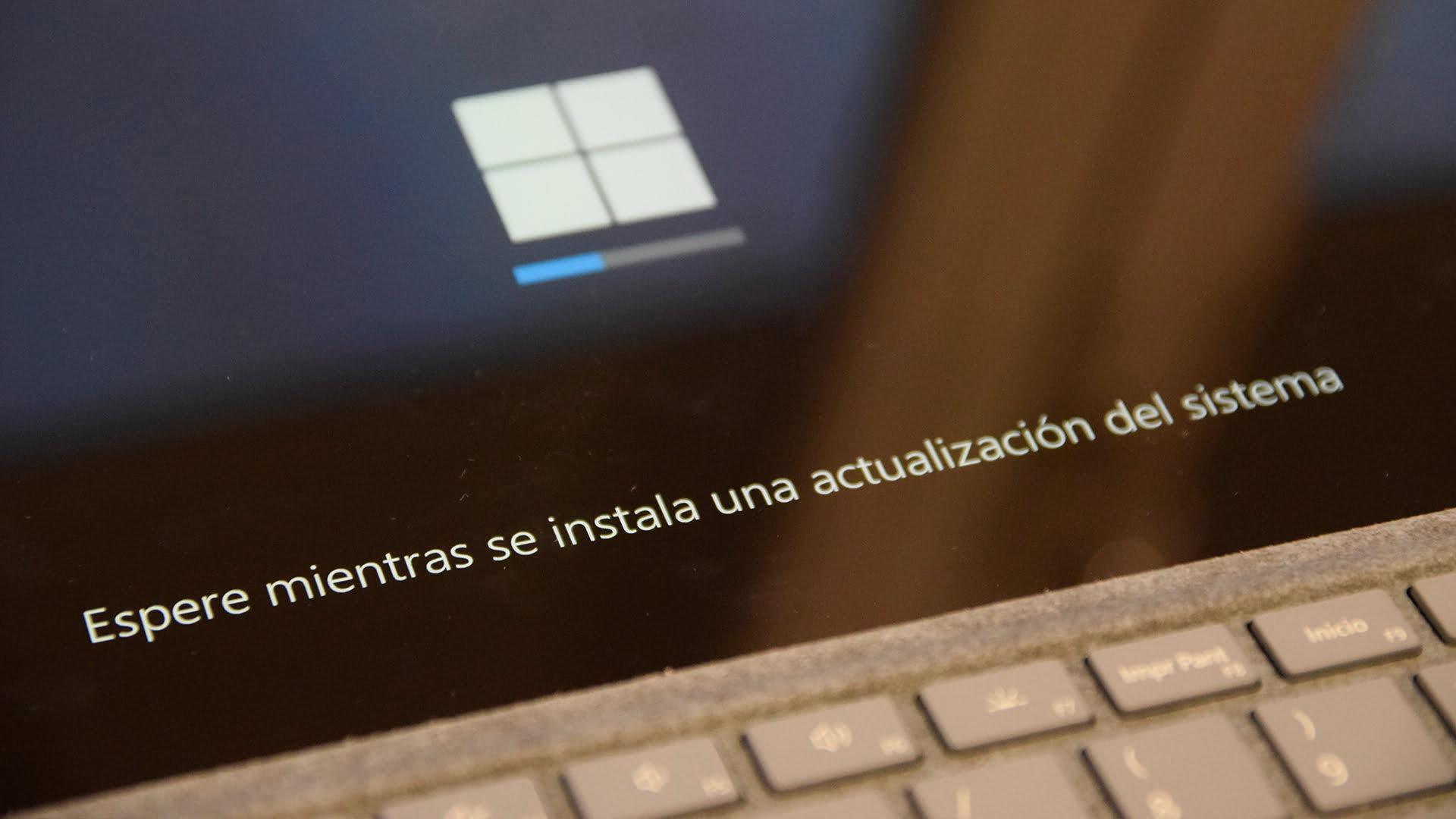 Surface Pro 7 actualizando