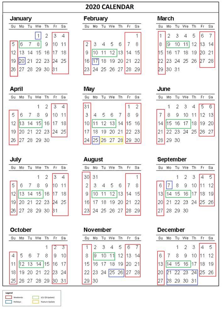 Calendario de actualizaciones de Windows 10 de Microsoft a mayo de 2020