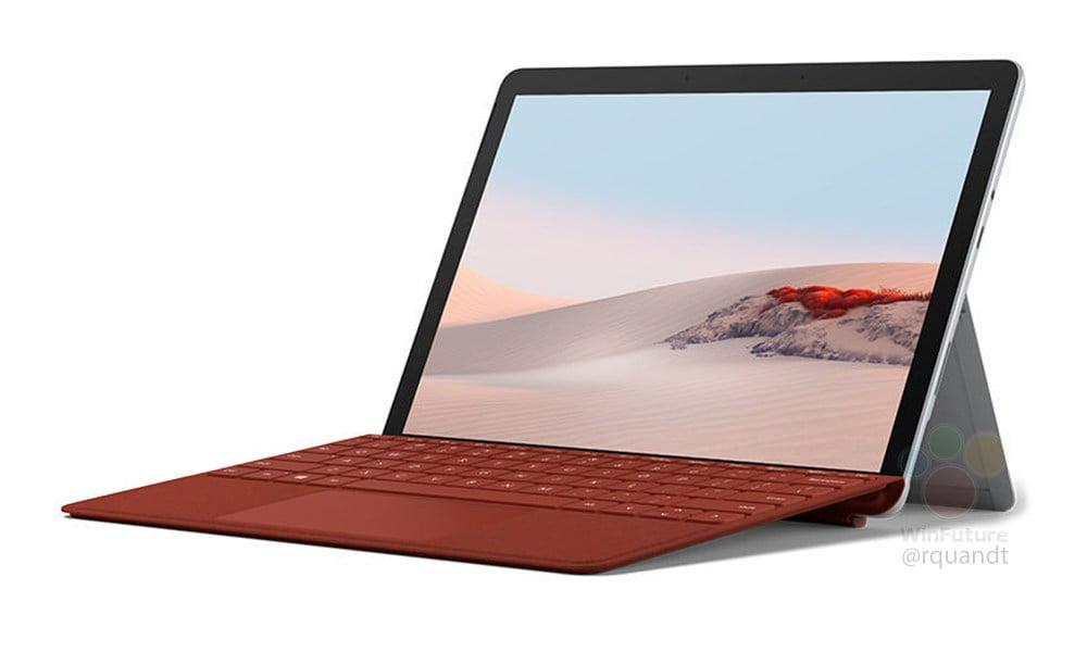 Surface Go 2 con Typecover rojo