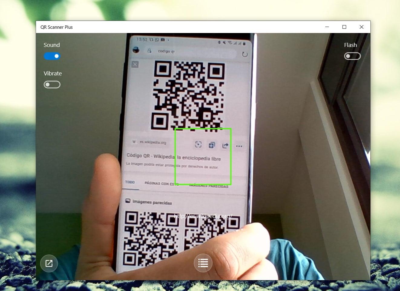 Escanear códigos QR desde Windows 10