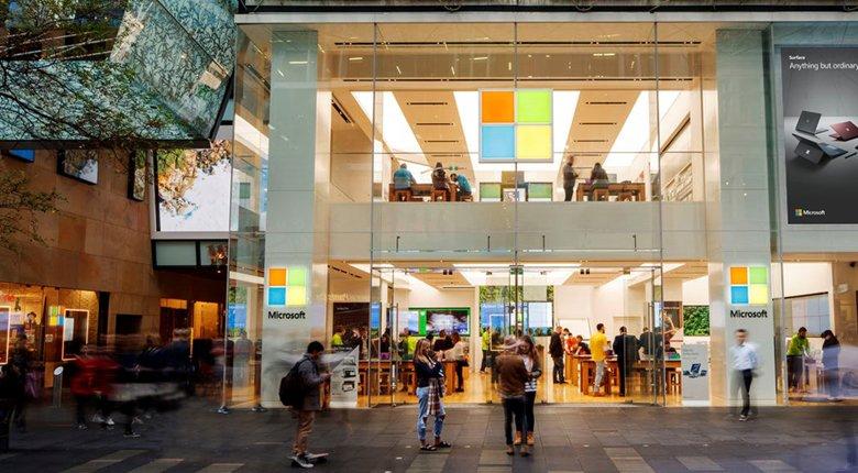 Una de las tiendas Microsoft en Sydney