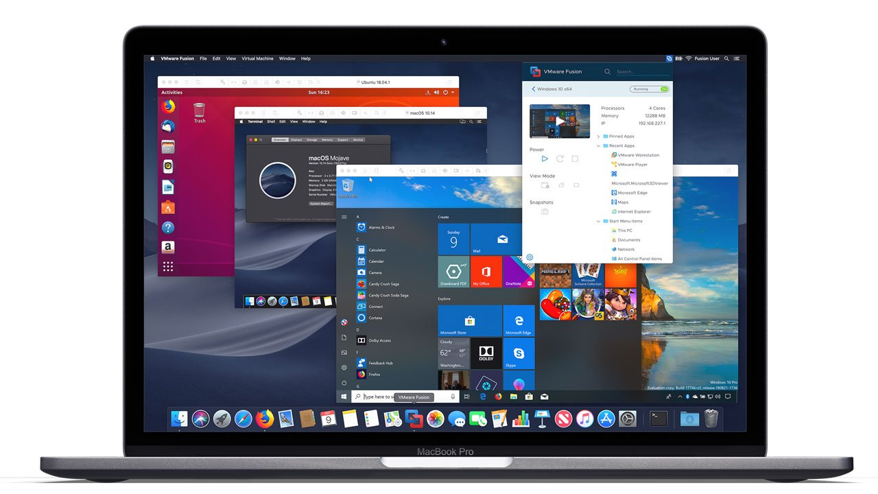 Windows 10 virtualizado con VMWare Fushion en MacOS