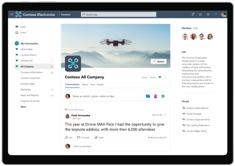 La nueva página de empresa