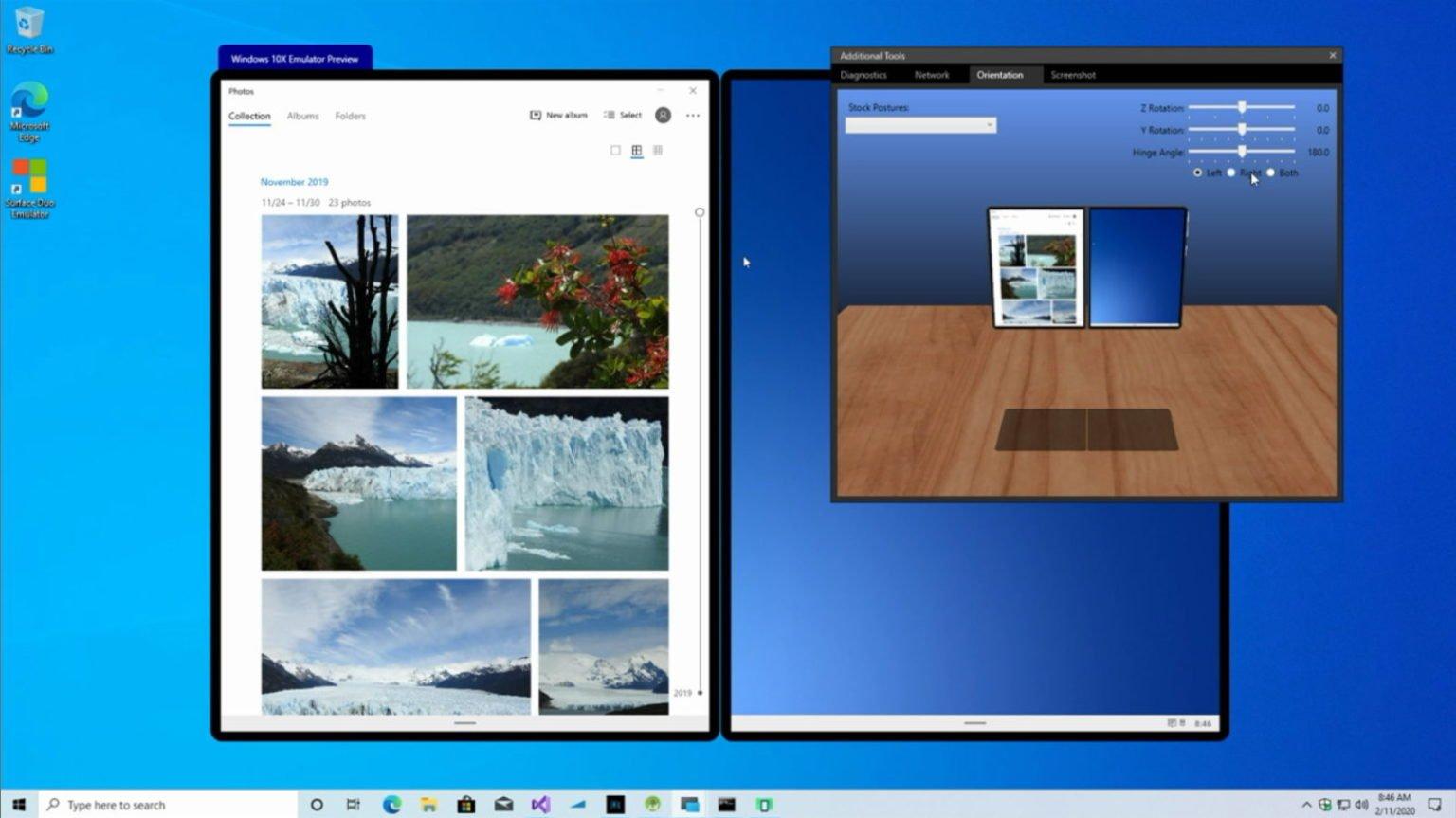 El emulador de Windows 10X