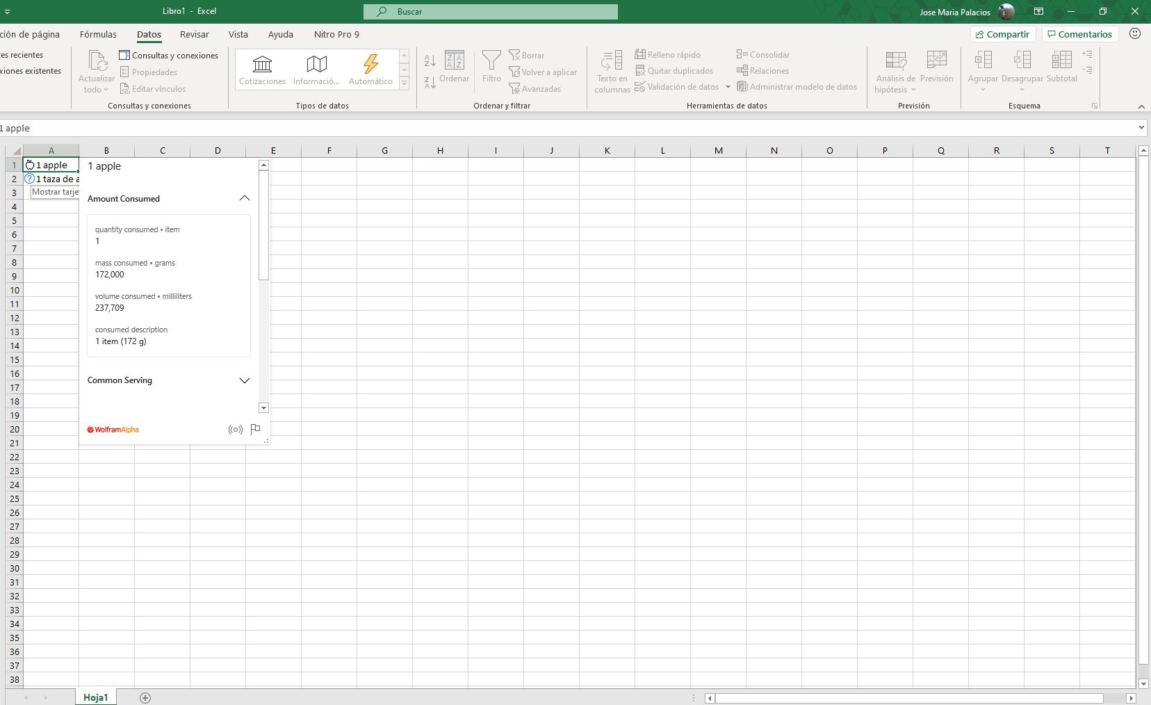Las nuevas opciones de Excel