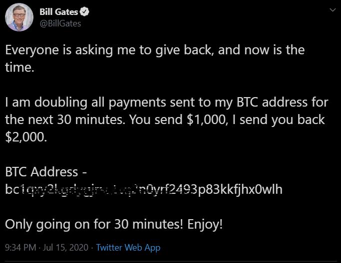 El hackeo a Bill Gates