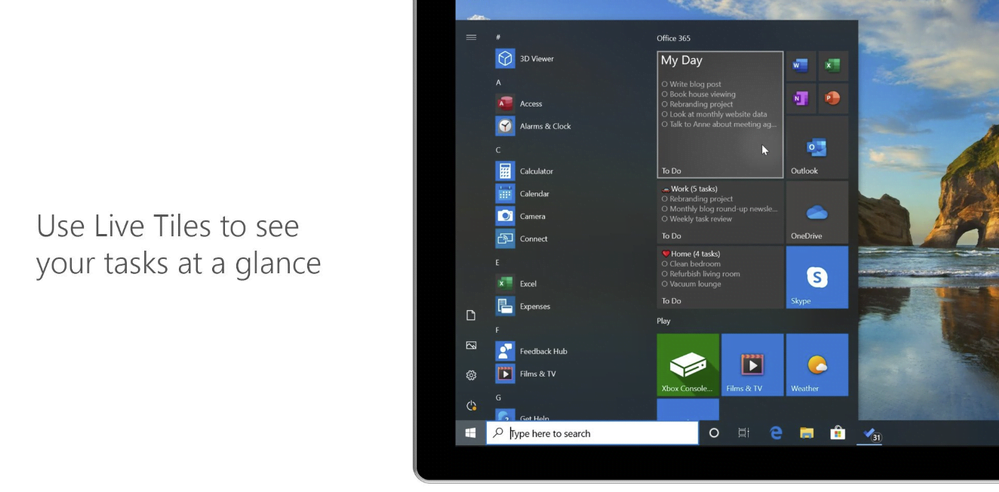 Microsoft To Do Live Tile