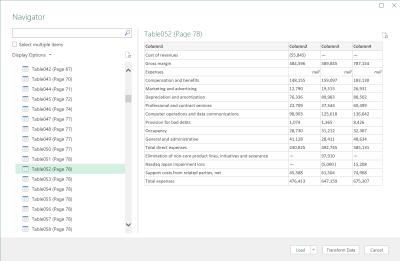 Datos de Excel desde un PDF