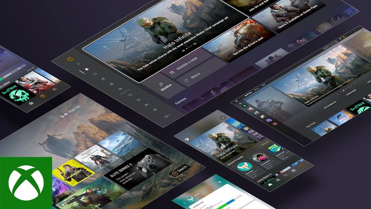 Interfaz de Xbox Series X