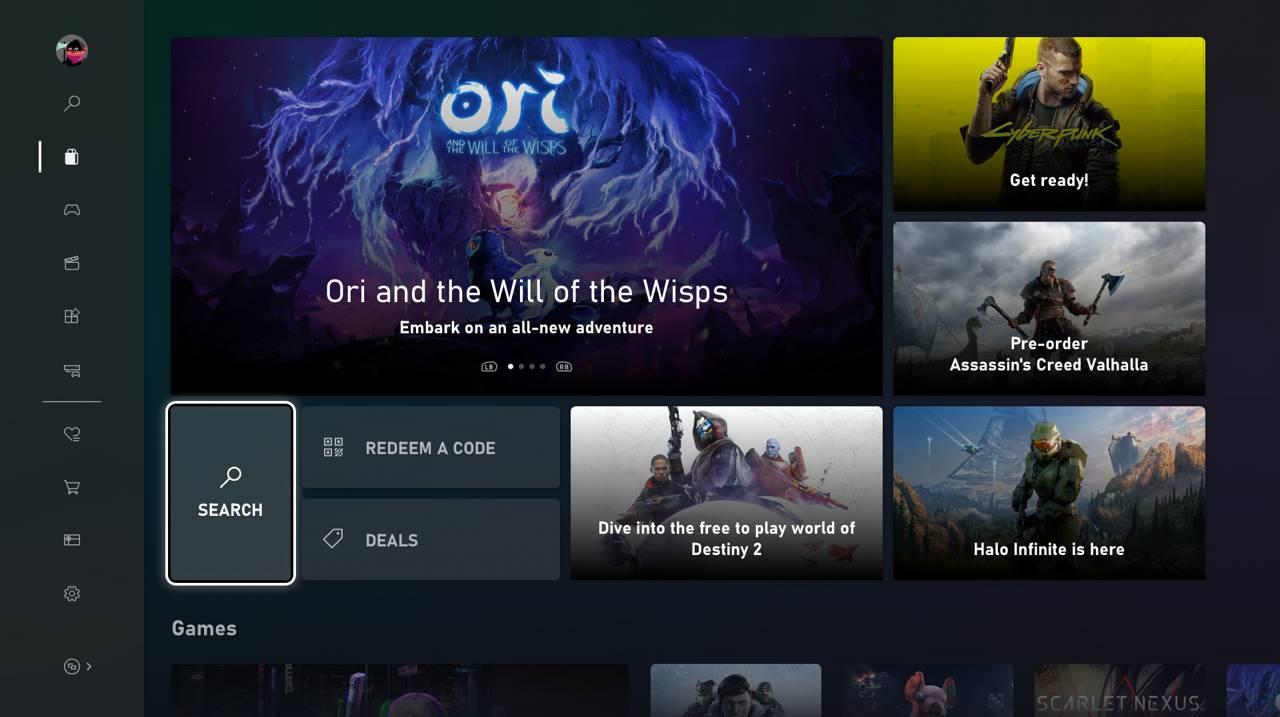 La nueva Microsoft Store en Xbox