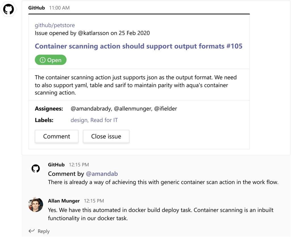 GitHub en Microsoft Teams