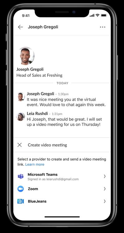Las reuniones de LinkedIn