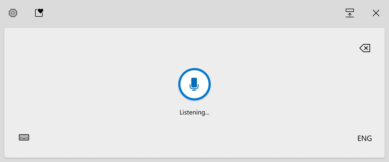 Voice Typing en la Build 20206 de Windows 10 Insider en el canal Dev teclado táctil