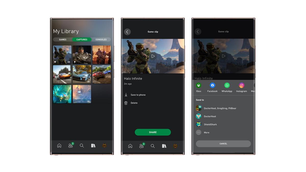 Comparte desde la app de Xbox