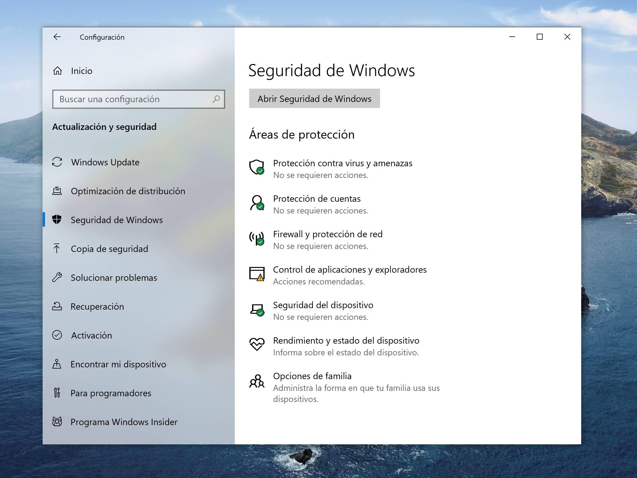 La seguridad en Windows 10