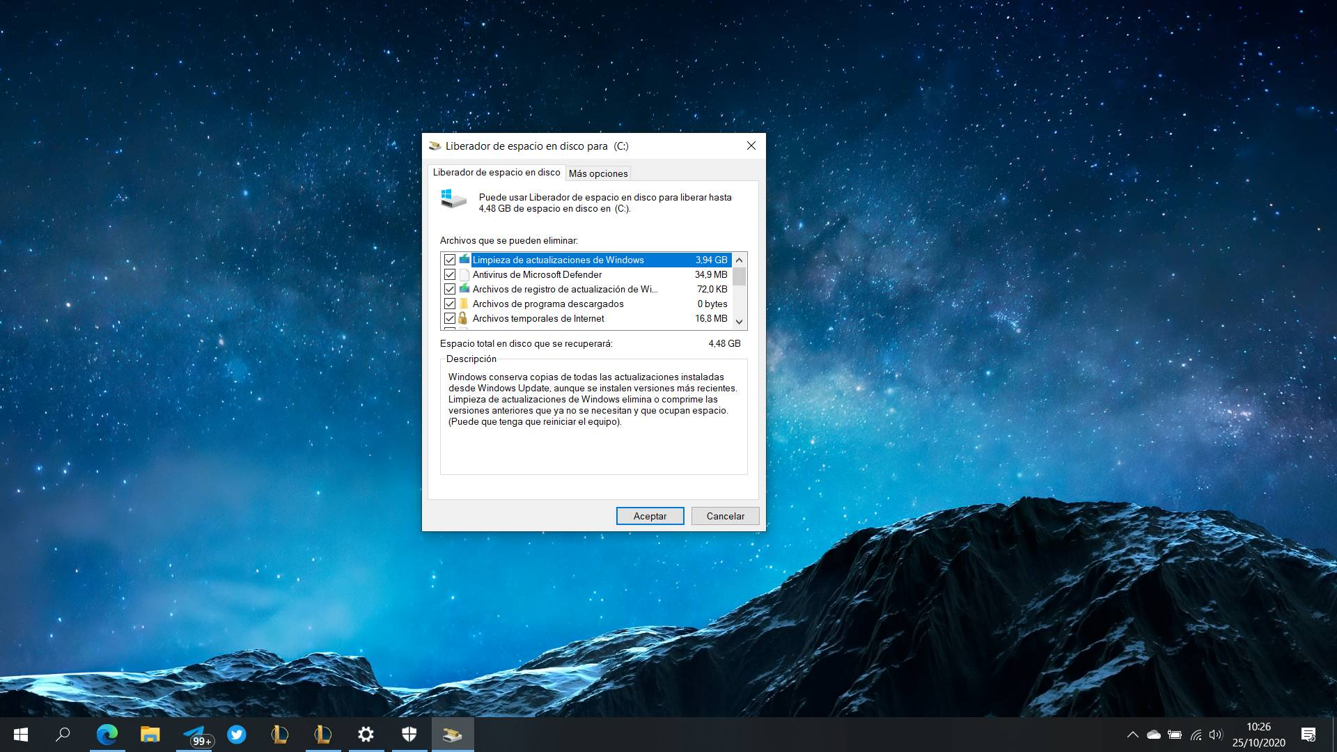 Almacenamiento Windows