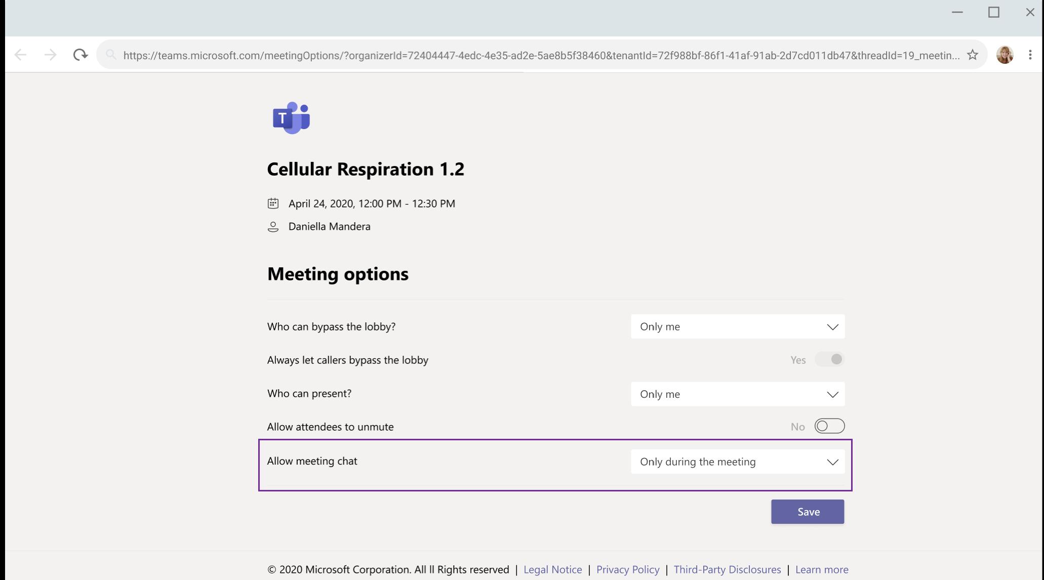Las nuevas opciones de silenciar el chat en Teams