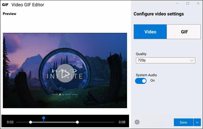 Edición de vídeo capturado con PowerToys