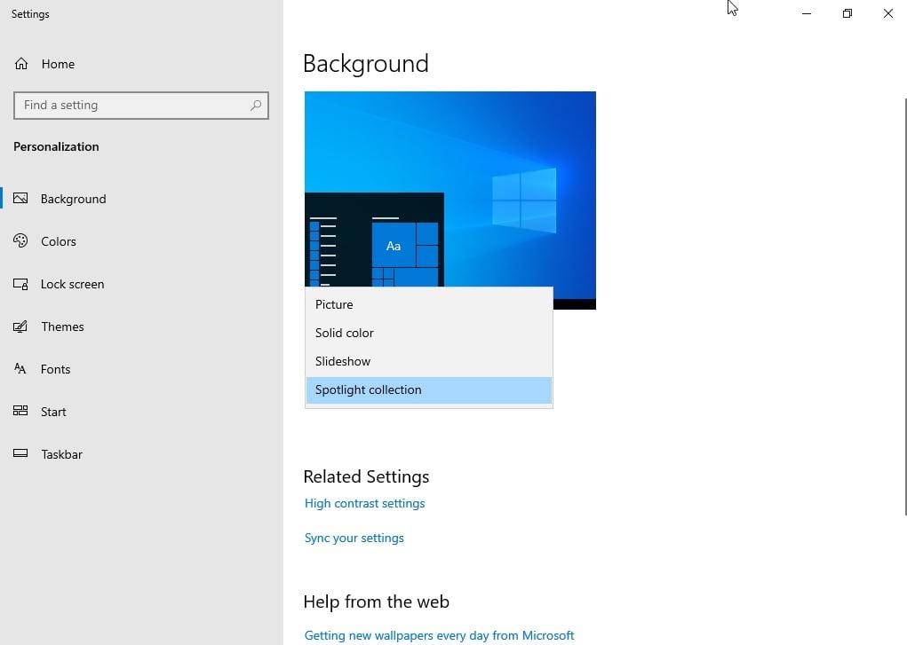 Posibilidades de personalización del escritorio de Windows 10