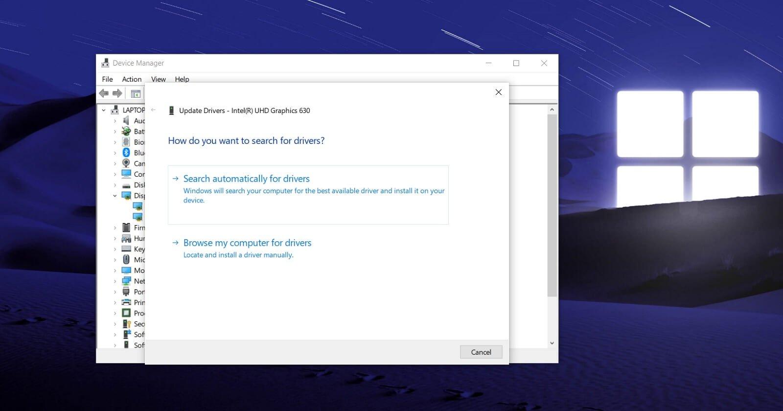 Validación de controladores en Windows 10