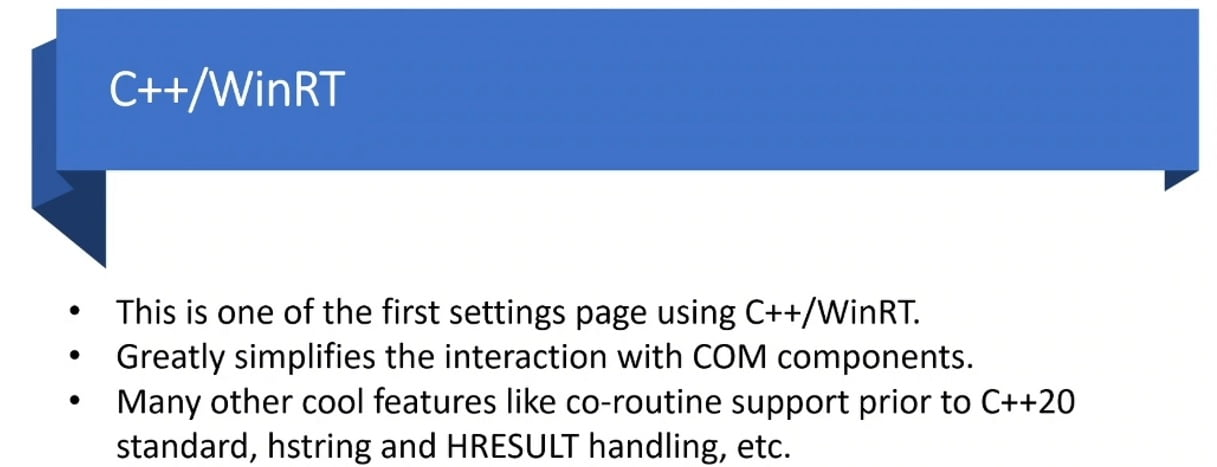 Información técnica sobre C++ WinRT