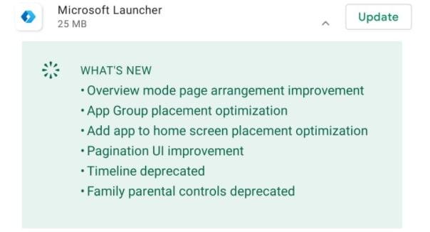 Los cambios en Microsoft Launcher