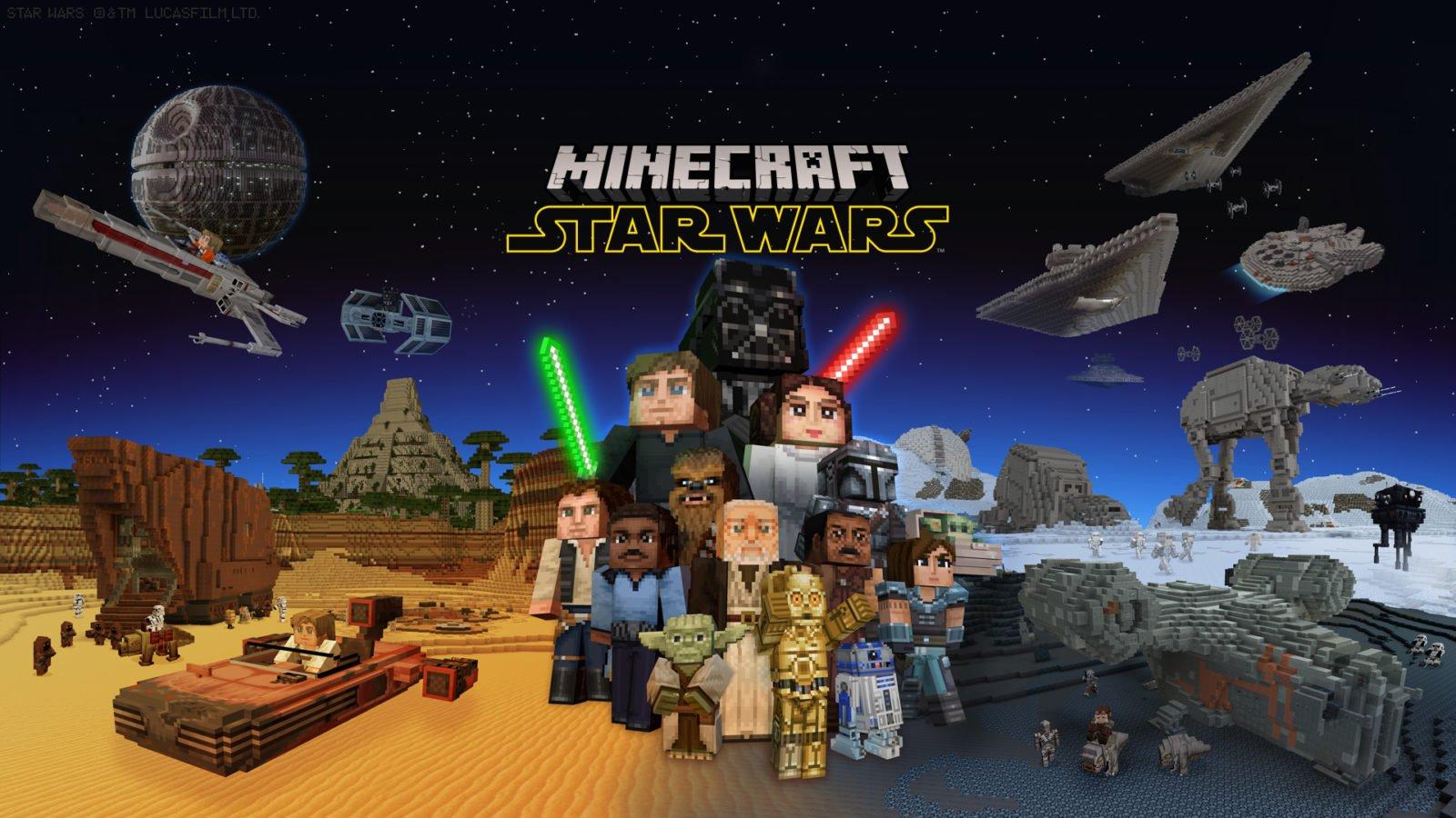 Minecraft y Star Wars juntos