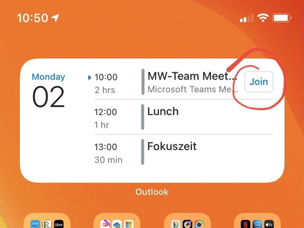 Meet Now de Teams en Outlook