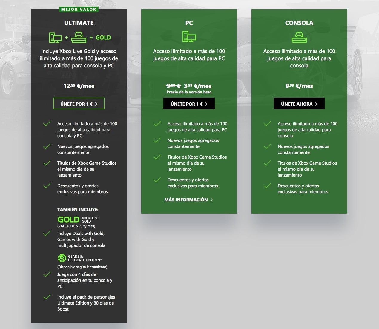 Beneficios de Xbox Game Pass Ultimate