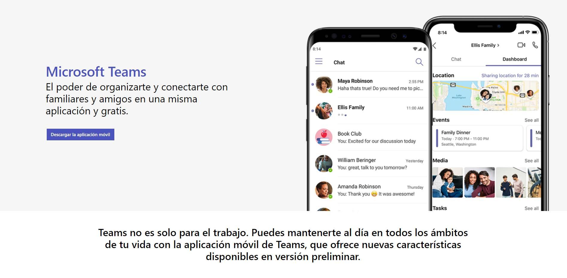 Microsoft Teams para uso personal