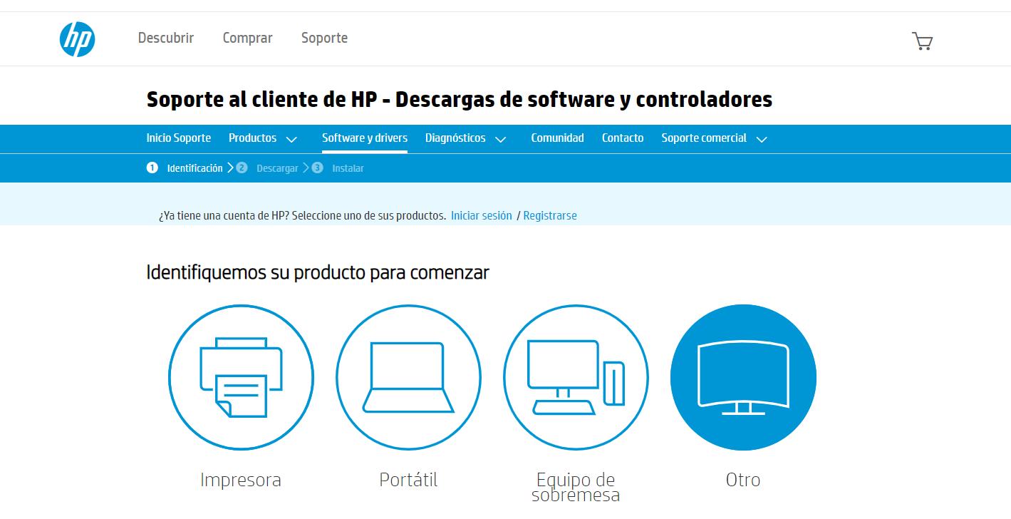 Web de HP