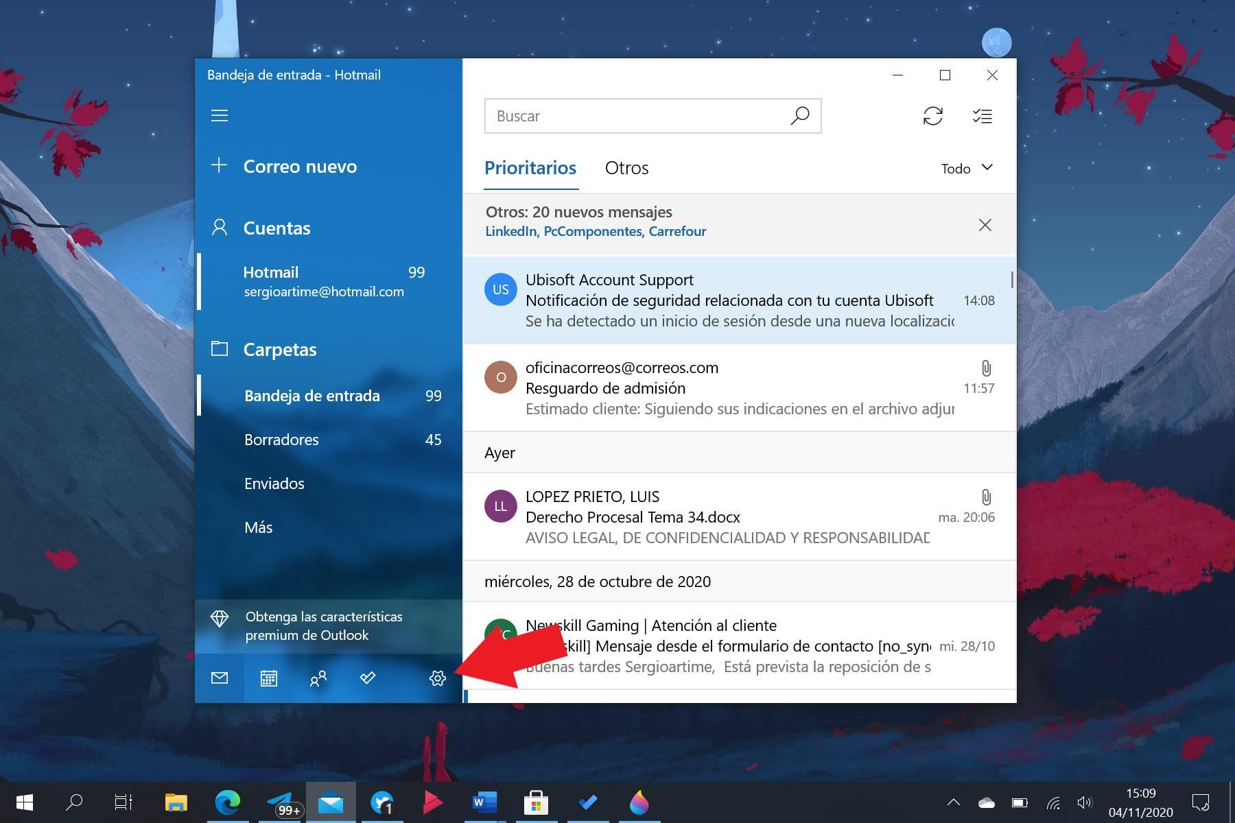 Configuración del Correo de Windows 10