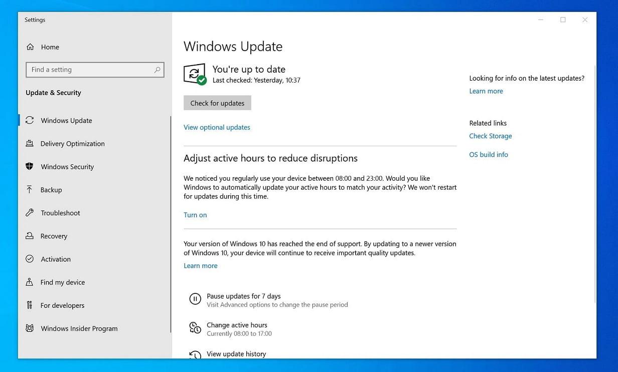 Actualización forzosa de Windows 10
