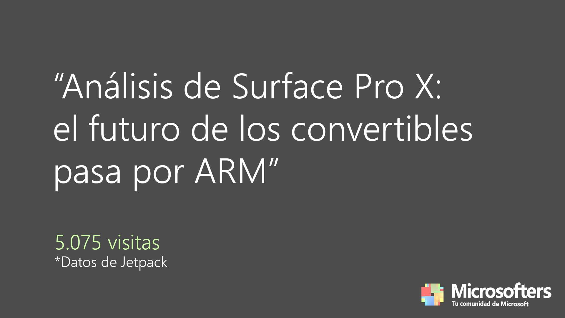 El análisis más leído fue sobre Surface Pro X
