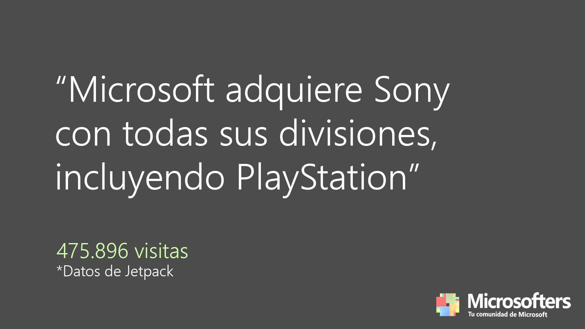 La noticia de la compra de Sony fue la más leída en Microsofters durante 2020