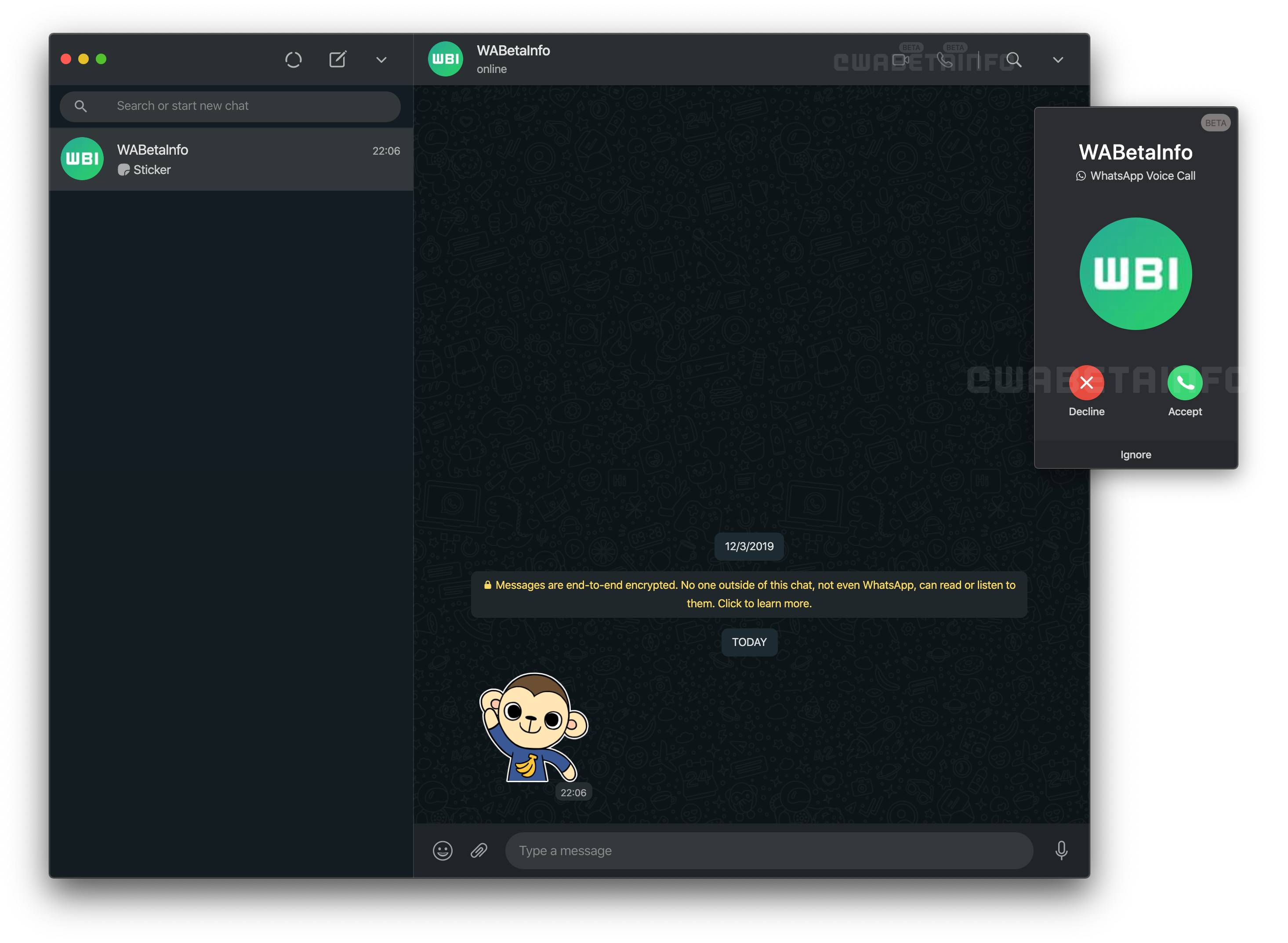 Llamadas en WhatsApp Desktop para Windows 10