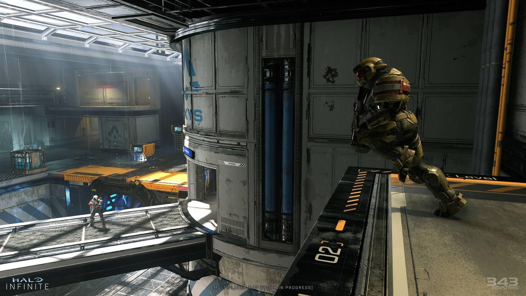 Imagen de un nivel multijugador de Halo Infinite