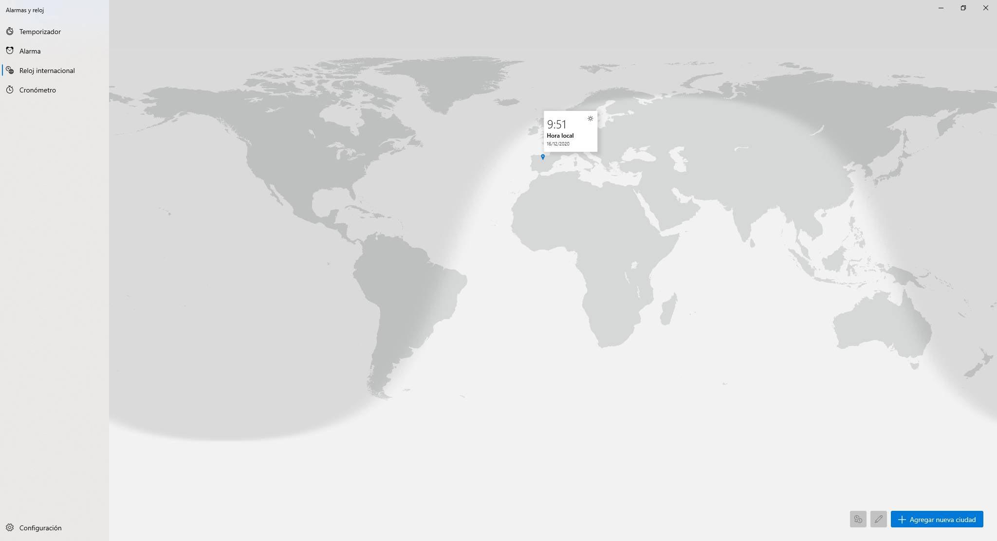 El funcionamiento del reloj mundial