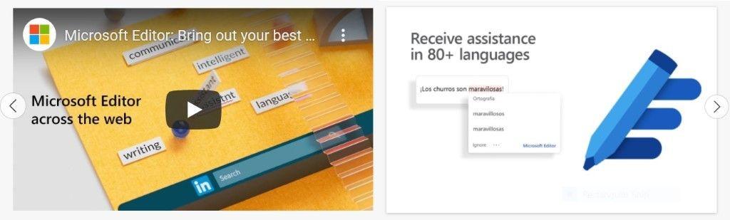 Capturas y vídeos en la tienda de extensiones de Microsoft Edge