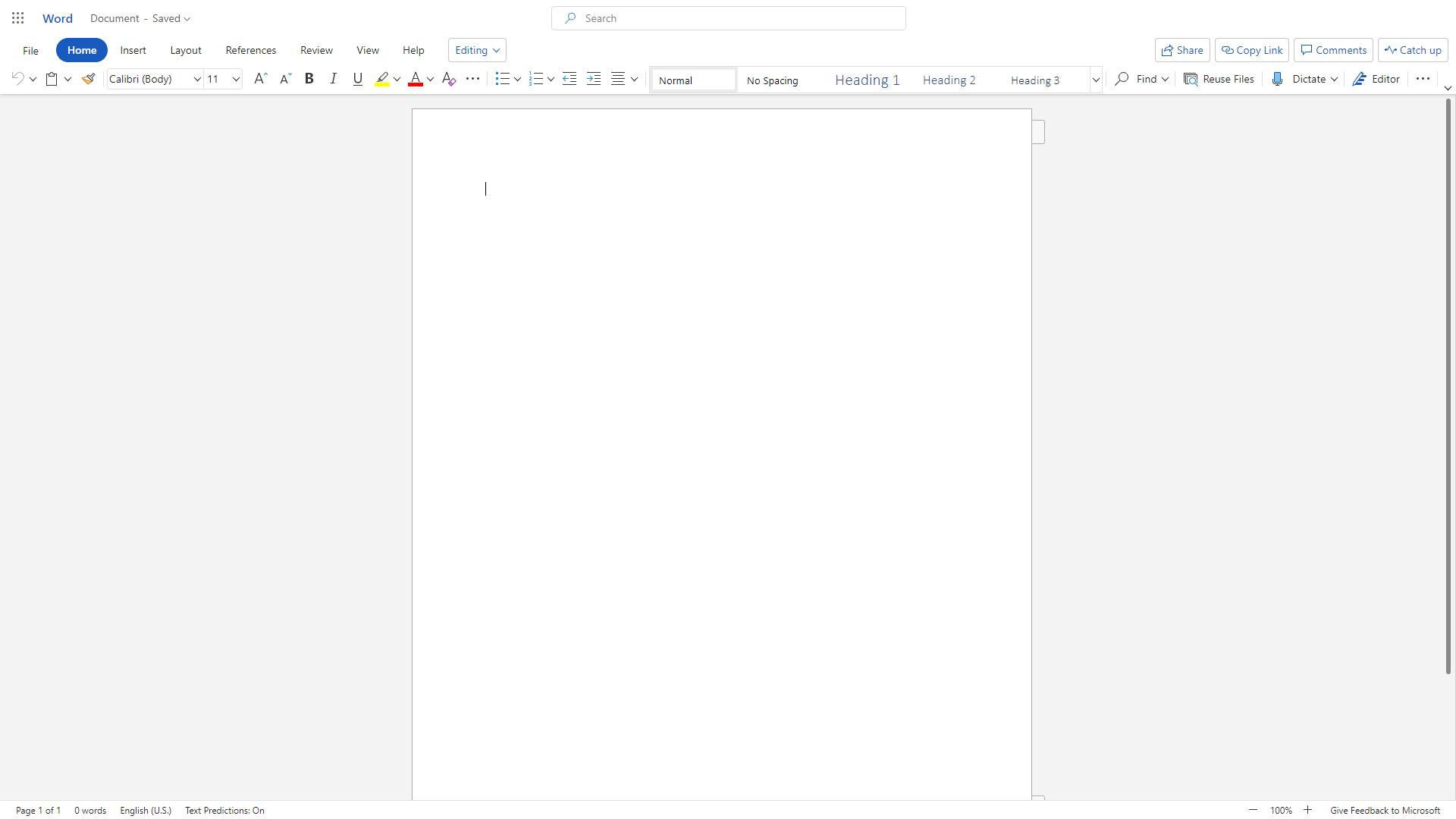 Nueva interfaz de las aplicaciones web de Office