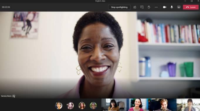 Función de Spotlight en Microsoft Teams