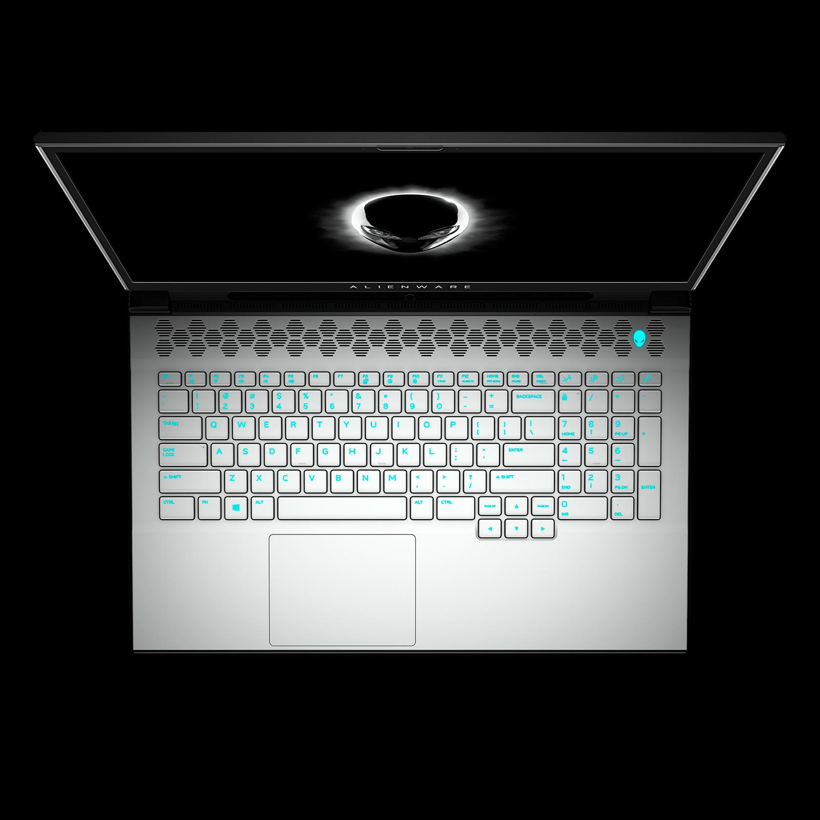Vista superior del teclado del Alienware m17 R4