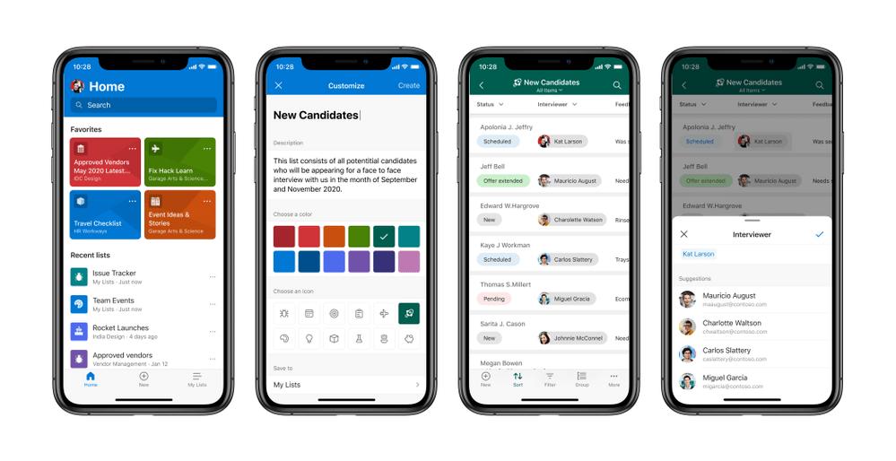 Microsoft Lists en iOS