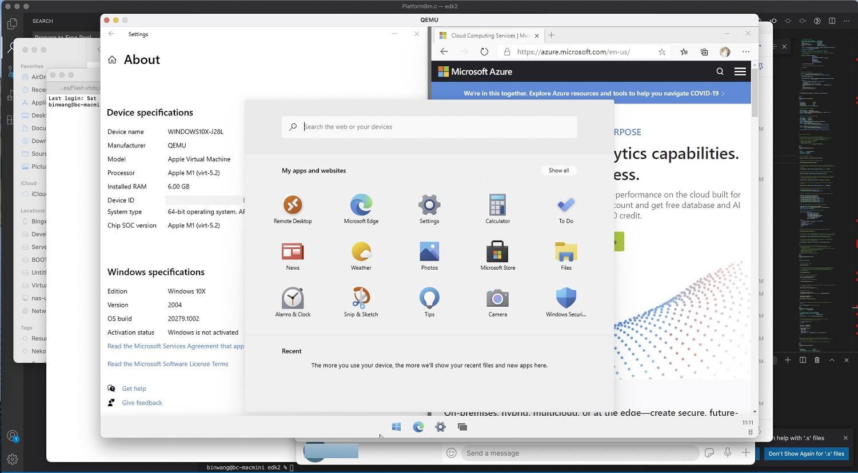 Windows 10X en Apple M1