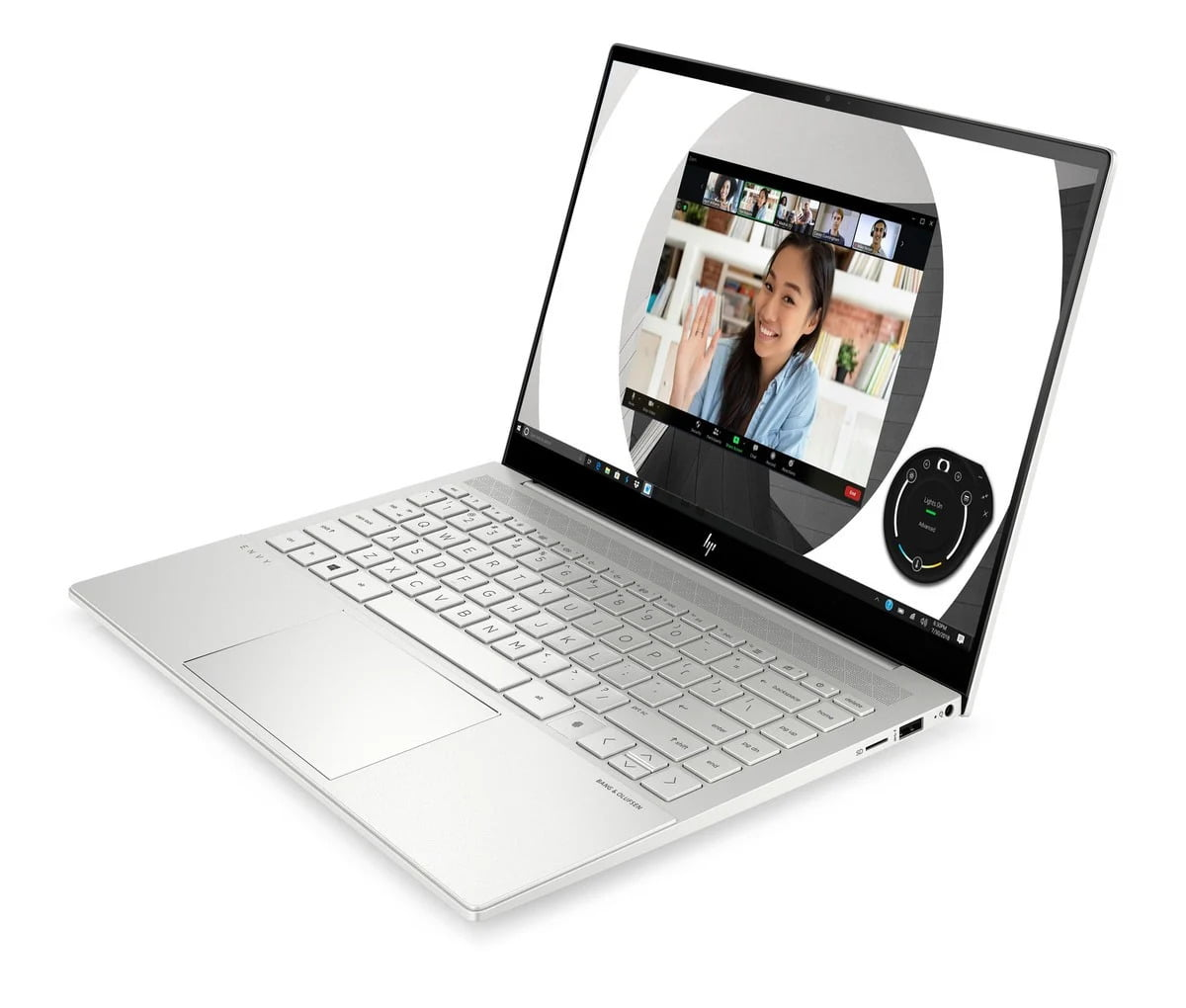 HP Envy 14 abierto con pantalla, teclado y touchpad visibles