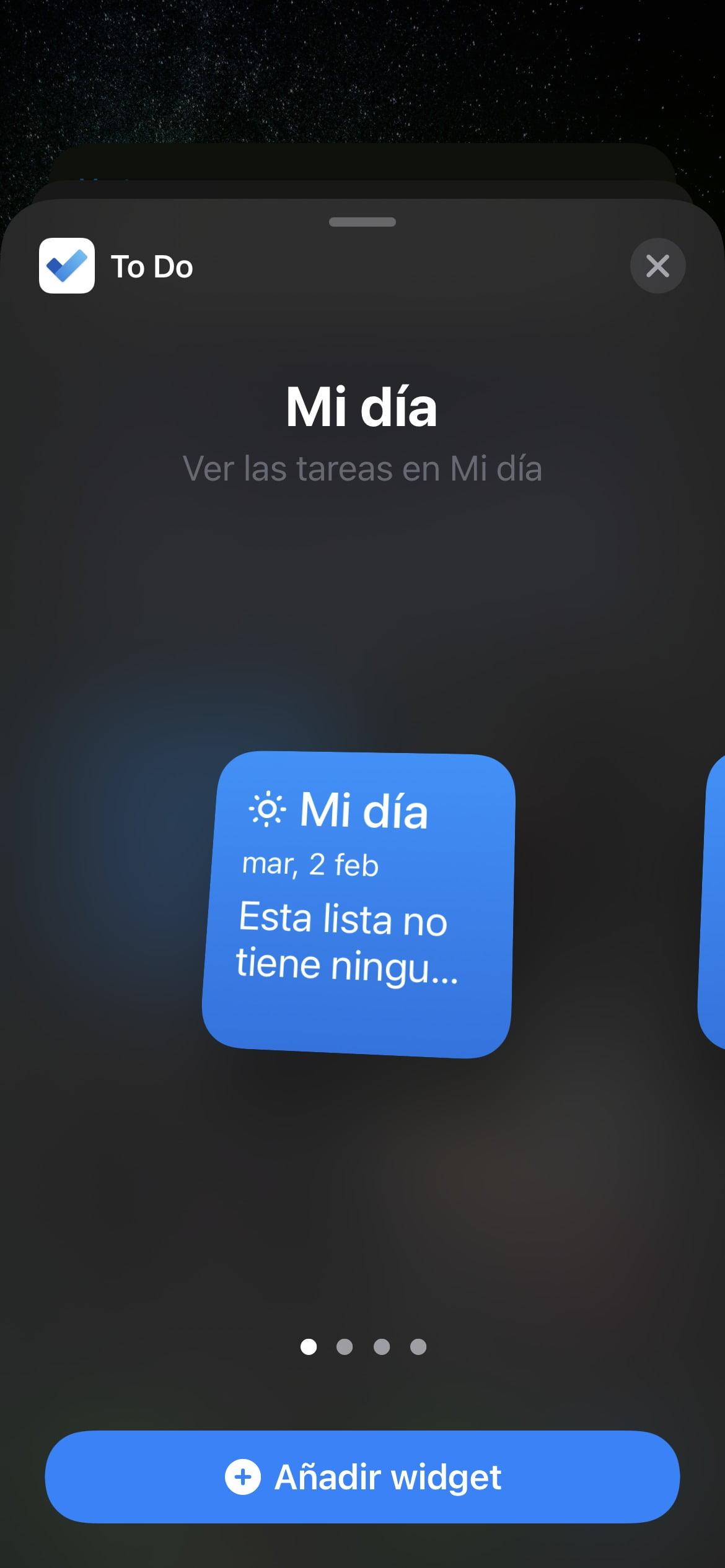 Microsoft To Do widget